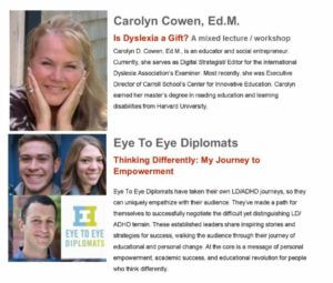 IDA Conference infographic: Carolyn Cowen and Eye to Eye Diplomats