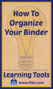 Learning Tools - Organize Messy Binders