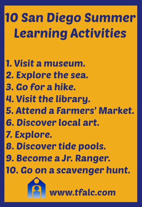 10 San Diego Summer Learning Activities