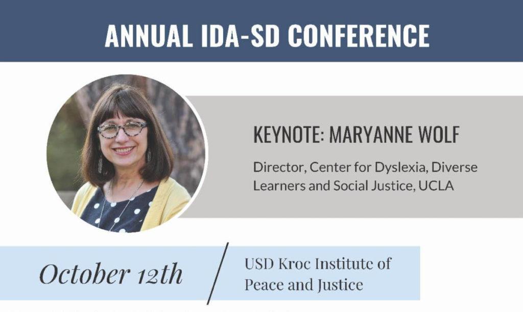 Annual IDA SD Conference w/ Maryanne Wolf